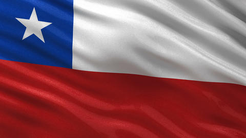 Flag of Chile seamless loop Animation