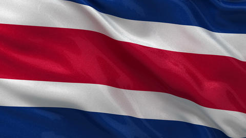 Flag of Costa Rica seamless loop Stock Video Footage