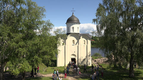 The Cathedral in the fortress. Old Ladoga. 4K Footage