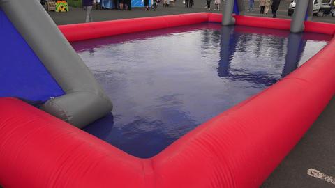 Baby plastic pool. 4K Stock Video Footage