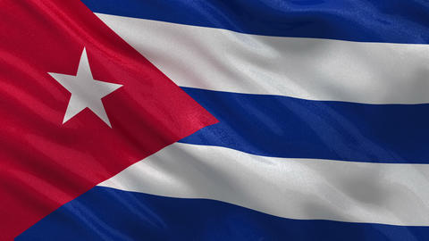 Flag of Cuba seamless loop Stock Video Footage