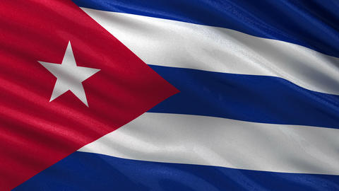 Flag of Cuba seamless loop Animation