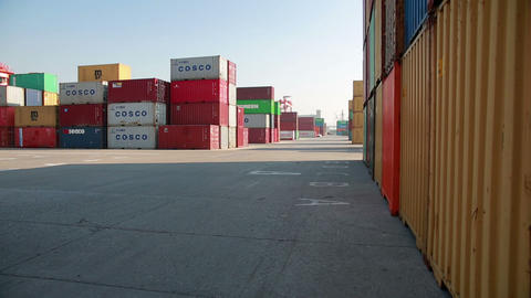 IZMIR, TURKEY - JANUARY 2013: Freight containers i Footage