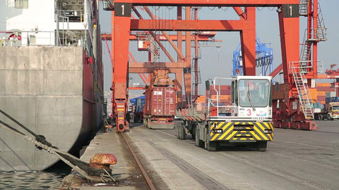 IZMIR, TURKEY - JANUARY 2013: Freight ship moored  Footage