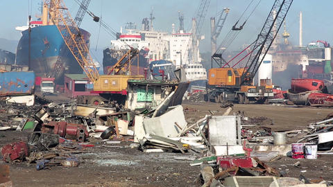 IZMIR, TURKEY - JANUARY 2013: Industrial scrapyard Footage