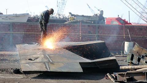 IZMIR, TURKEY - JANUARY 2013: Industrial scrapyard Footage