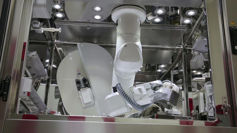 IZMIR, TURKEY - JANUARY 2013: chemotherapy Robot a Footage