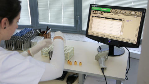 IZMIR, TURKEY - JANUARY 2013: Testing blood sample Footage