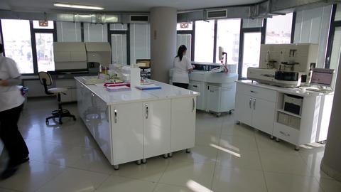 IZMIR, TURKEY - JANUARY 2013: Female scientists wo Footage