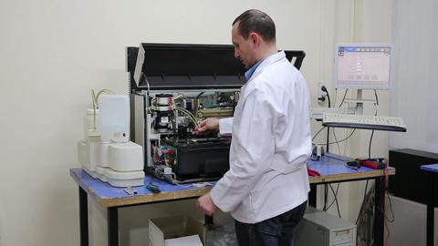 IZMIR, TURKEY - JANUARY 2013: Preparing laboratory Stock Video Footage