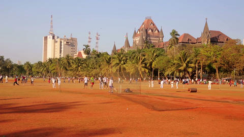 MUMBAI, INDIA - MARCH 2013: People in park playing Footage