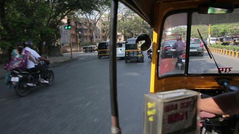 MUMBAI, INDIA - MARCH 2013: Everyday traffic scene Footage