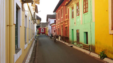 GOA, INDIA - MARCH 2013: Old colonial architecture Footage