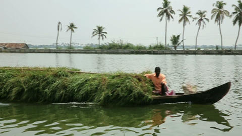 ALLEPPEY, INDIA - MARCH 2013: Everyday scene in Ke Stock Video Footage