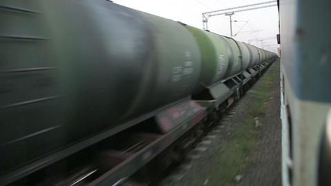 KANYAKUMARI, INDIA - MARCH 2013: Train passing by Stock Video Footage