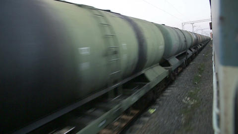 KANYAKUMARI, INDIA - MARCH 2013: Train Passing By  stock footage