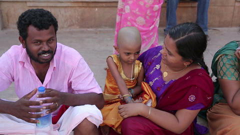 MADURAI, INDIA - MARCH 2013: Local couple with mal Footage