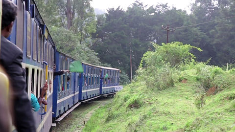 OOTY, INDIA - MARCH 2013: flags signalling histori Stock Video Footage