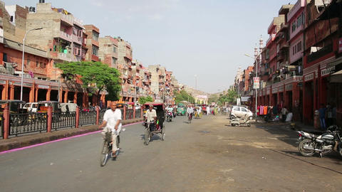 PUSHKAR, INDIA - APRIL, 2013: Everyday street scen Stock Video Footage
