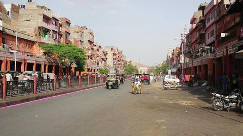 PUSHKAR, INDIA - APRIL, 2013: Everyday street scen Footage