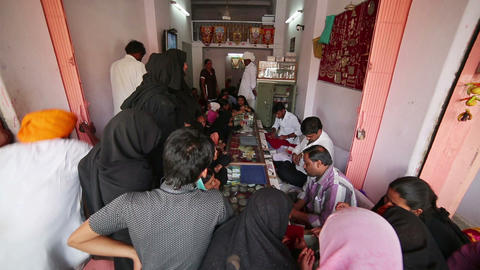 JAIPUR, INDIA - APRIL, 2013: Local people buying j Footage