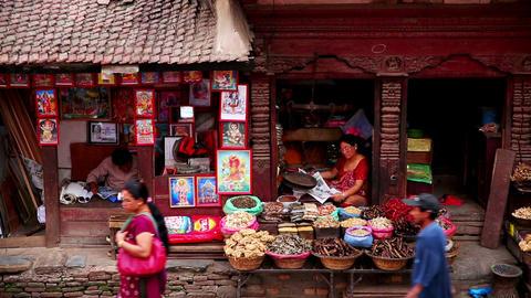 KATHMANDU, NEPAL - JUNE 2013: Everyday scene at Du Footage