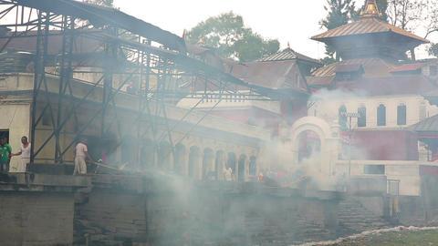 KATHMANDU, NEPAL - JUNE 2013: pashupatinath temple Stock Video Footage