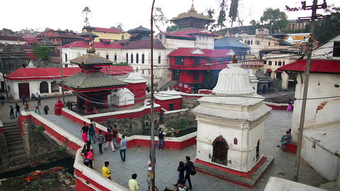 KATHMANDU, NEPAL - JUNE 2013: pashupatinath temple Footage