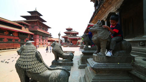 KATHMANDU, NEPAL - JUNE 2013: Everyday scene, Pata Stock Video Footage