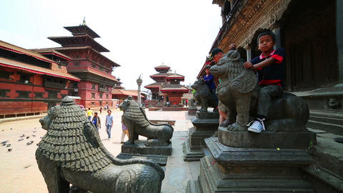 KATHMANDU, NEPAL - JUNE 2013: Everyday scene, Pata Footage
