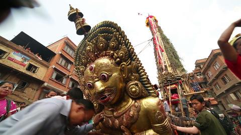 KATHMANDU, NEPAL - JUNE 2013: Chariot of the Rain  Footage