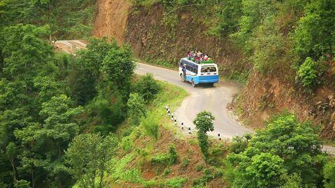 NAGARKOT, NEPAL - JUNE 2013: Nepali passengers, to Footage