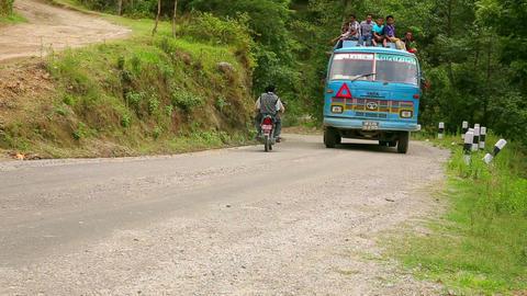 NAGARKOT, NEPAL - JUNE 2013: Nepali passengers, to Stock Video Footage