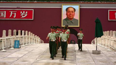 BEIJING, CHINA - JUNE 2013: View of Tiananmen Squa Stock Video Footage