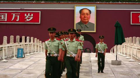 BEIJING, CHINA - JUNE 2013: View of Tiananmen Squa Footage