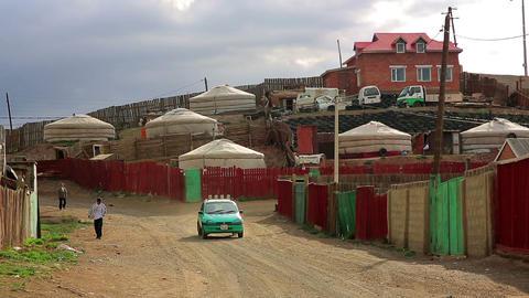 ULAANBAATAR, MONGOLIA - JULY 2013: Daily Life at M Stock Video Footage