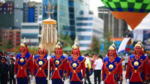 ULAANBAATAR, MONGOLIA - JULY 2013: Mongolian Army  Footage