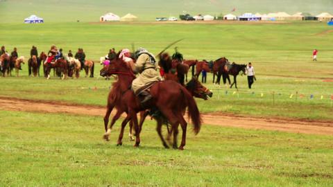 ULAANBAATAR, MONGOLIA - JULY 2013: Mongolian Medie Footage