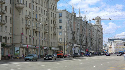 MOSCOW, RUSSIA - JUNE 2013: Everyday life in stree Footage