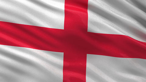 Flag of England seamless loop Animation