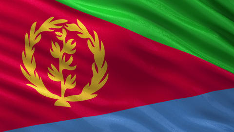 Flag of Eritrea seamless loop Animation