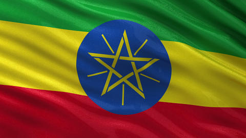 Flag of Ethiopia seamless loop Animation