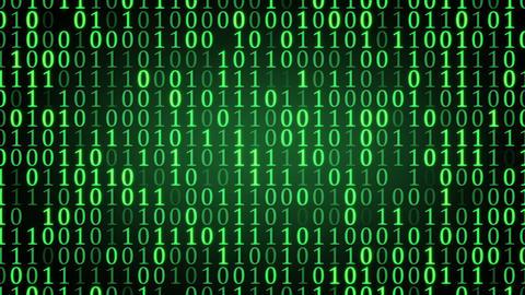 green binary digital code loop Animation
