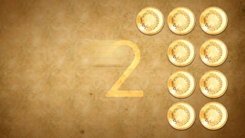 Gold Coin Outro Count Down stock footage