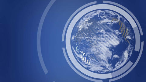 Earth Globe revolving loop Stock Video Footage