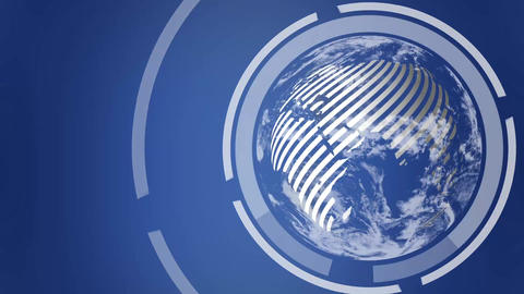 Earth Globe Revolving Loop stock footage