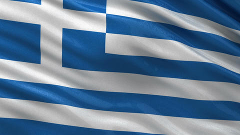 Flag of Greece seamless loop Animation