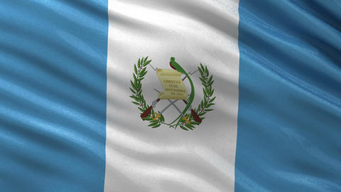 Flag of Guatemala seamless loop Animation