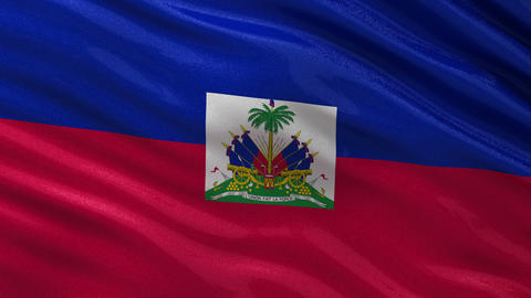 Flag of Haiti seamless loop Animation