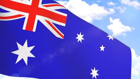 Waving Flag of Australia Animation
